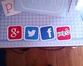 Social Media / social networking / social media / decals