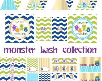 Monster Birthday Party, Monster Baby Shower, Monster Birthday Decorations, Monster Baby Shower Decorations, Monster Party Decorations