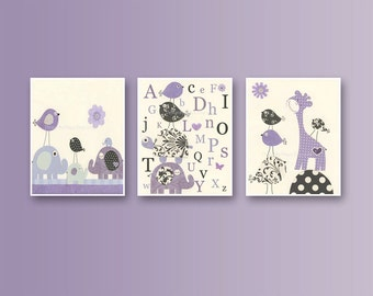 Popular items for purple nursery on Etsy