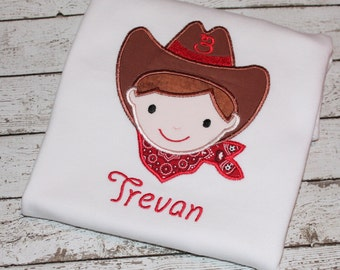 Boy's Cowboy  Shirt, Personalize with or without your child's age