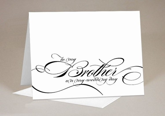 Wedding Present To Brother : My Brother on My Wedding Day Gift Card1 Card with EnvelopeGift ...