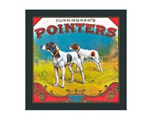Small Journal - Cunningham's Pointers  - Fruit Crate Art Print Cover