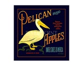 Small Journal - Pelican Brand Apples - Fruit Crate Art Print Cover
