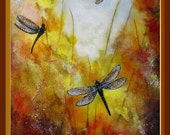 TUTORIAL Painting With Acrylic & Mixed Media: Dragonflies