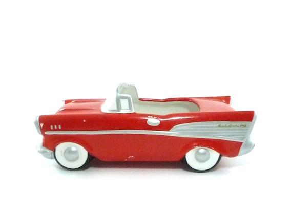 1957 Chevy Ceramic Candy Dish Vintage Car Planter 1957