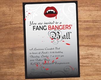 Fang Bangers Ball Custom Party Invitation Printable Digital File