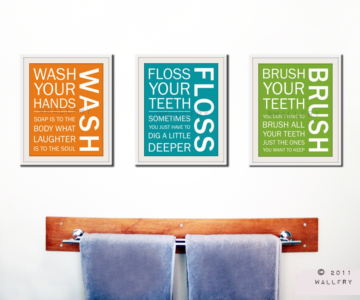 Kids Bathroom Wall Art kids bath wall art. bathroom rules. bathroom prints wash brush