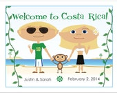 Costa Rica Wedding Welcome Bag Notes, Destination Wedding Ideas, Beach Wedding, Wedding Welcome Letter, Welcome Basket Ideas