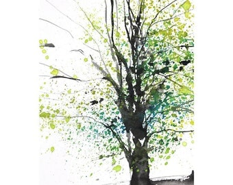 Grid series No.7 Spring Trees, 3 of  8, limited edition of 50 fine art giclee prints from my original printing