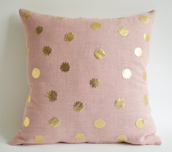 Items Similar To On Sale Pink Linen Pillow Cover Sukan