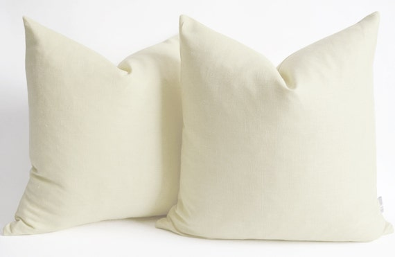 Sukan / 1 Linen Pillow Cover Cream large pillow euro by sukanart