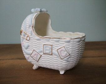 SALE! Vintage Napcoware Bassinet Nursery Planter
