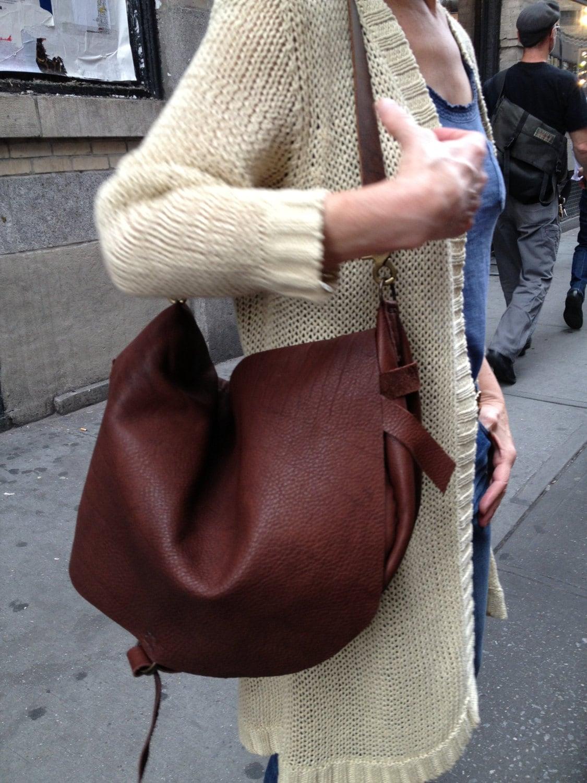 Slouchy shoulder bag   Etsy