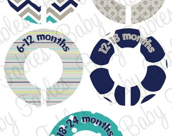 Custom Baby Closet Dividers Clothing Dividers Closet Organizers Baby Boy Nursery Closet Organizer - Assembled, ready to hang