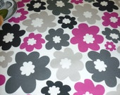 "Fushia Pink Table Runner 5 design choices Funky Modern Contemporary Cotton (54"" 137cm)"