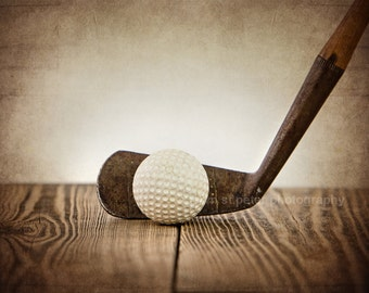 Vintage Golf Club and Ball Photo Print, Decorating Ideas, Wall Decor, Wall Art,  Kids Room, Nursery Ideas, Gift Ideas,