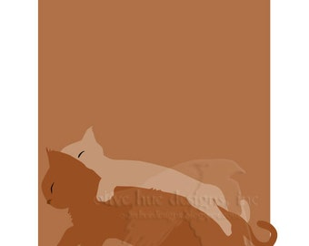 cinnamon & sugar 8x10 sleepy brown kitties