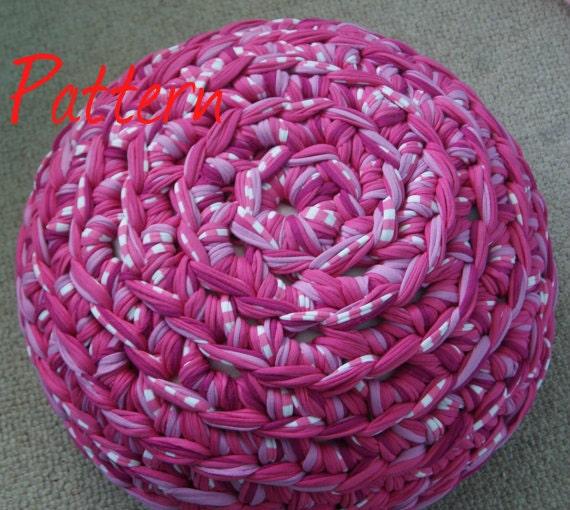 Crochet Pattern Notation : Footstool Crochet Pattern PDF UK Notation