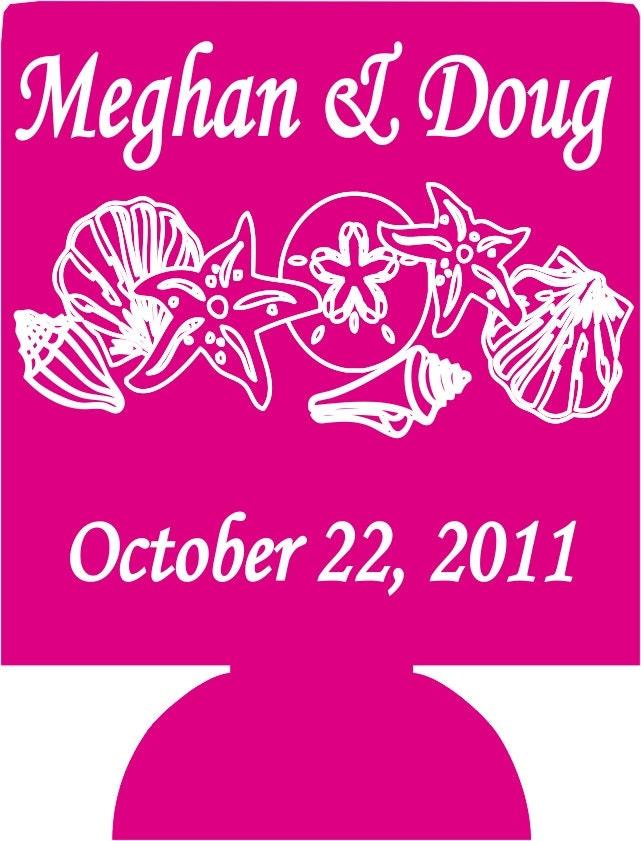 Wedding koozies personalized lot of 100 by odysseycustomdesigns