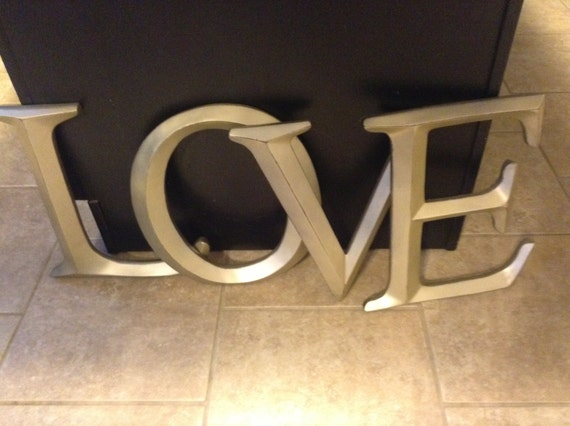 Letters large letters wall decor shabby chic wall decor for Decoration 5 letters