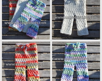 Instant Download Crochet Pattern- No. 91.2 Textured Short or pants - Size Newborn - 4T