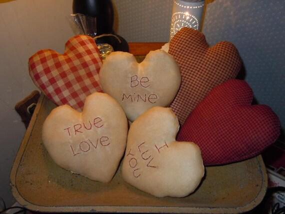 Primitive Valentine Heart Ornies