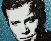 Capt. Kirk -glitter art 9x12