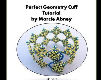 Beadweaving Tutorial - Perfect Geometry Beadwoven Cuff Bracelet