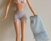 Barbie Blue Lingerie Set Bra Slip Panties