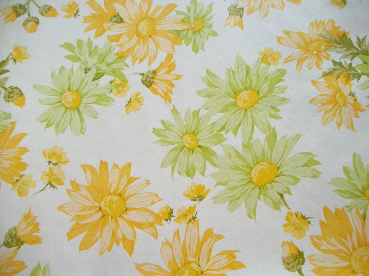 Vintage french sunflower wallpaper sample sheet for Old french wallpaper