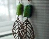 Autumn's Energy and healing earrings