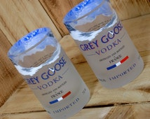 Grey Goose Glasses / Tumblers made from upcycled vodka bottles