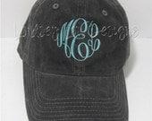 Monogrammed Baseball Hat - Garment Washed