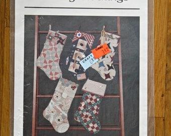 Memory Stockings Christmas Craft Sewing Pattern
