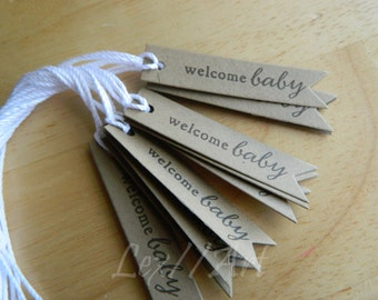 Welcome Baby New Baby Favor Gift Tags