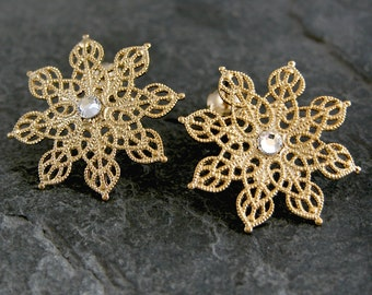 Winter Earrings, Snowflake Jewelry, Statement Earrings, Snowflake Earrings, Gifts Ideas for Her, Snowflake, Unique Jewelry for Her