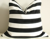 Black and White Medium Stripe Pillow Cover