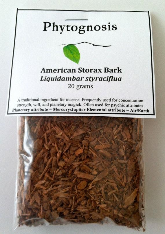 American Storax Bark - Liquidambar styraciflua - Sacred incense for the Mayan people, strength, psychic abilities, and planetary magic