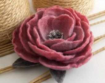 Felt Flower Brooch - Brooch - Pink Flover