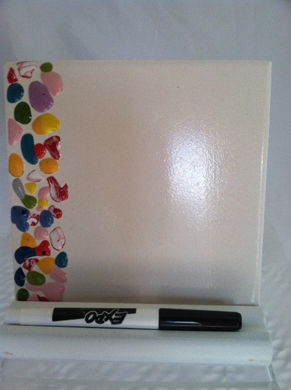 Ceramic Tile Dry Erase Message Board With Stand And Marker