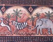 Tribal Safari Pillow Case. Africa. Set of 2. Elephant. Zebra. CA King.
