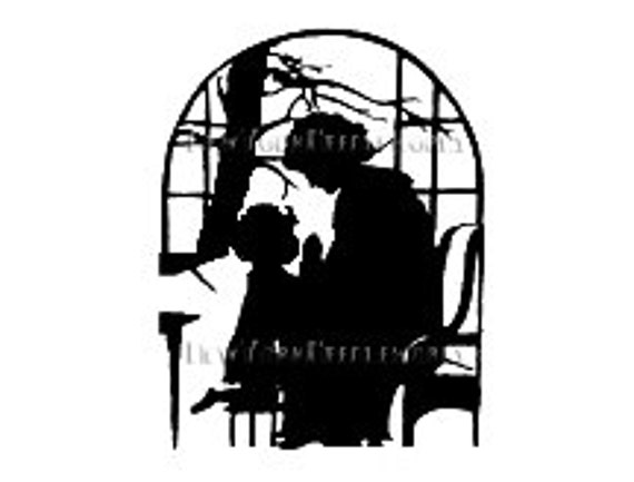 Mother and Child Cross Stitch Silhouette Pattern, Praying, Cross Stitch Pattern, Cross Stitch Silhouette from NewYorkNeedleworks on Etsy