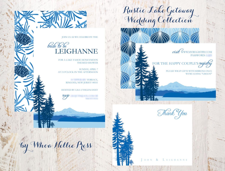 Lake Themed Wedding Invitations: Wedding Invitations Rustic Lake Getaway Collection