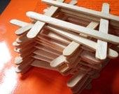 Mini Popsicle Sticks, Natural, Wood- 125ct