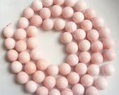 14mm  Pink sponge coral Round  beads