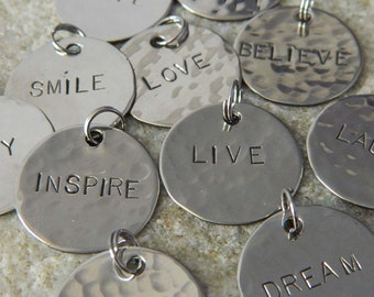 3 Handstamped Charms