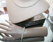 Necklace Pearl Strand and Matching Bracelet Perfect for the Bride, Special Events