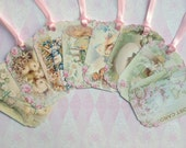 Vintage Easter Postcard Design Gift Tags set of 8 Shabby Chic  no.28