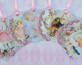 Shabby Chic Easter Gift Tags set of 8  no.27