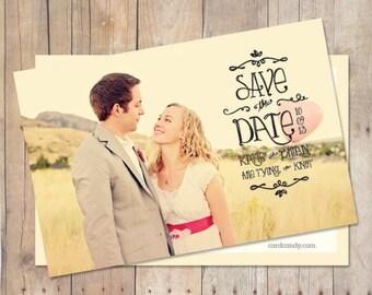 Save-The-Date Card, Save The Date Postcard, Save The Date Magnet, Custom Colors, Photo
